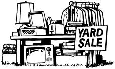 Yard sale B&W